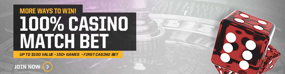 %100 Casino Match Bet